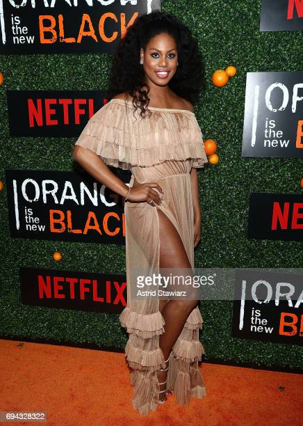 Actress Laverne Cox attends 'Orange Is The New Black' season 5 celebration at Catch on June 9 2017 in New York City