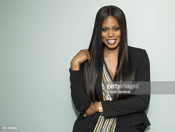 Actress Laverne Cox attends SAGAFTRA Foundation's Conversations with 'Doubt' at SAGAFTRA Foundation Screening Room on January 9 2017 in Los Angeles...