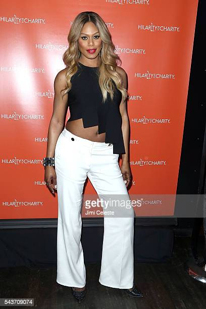 Actress Laverne Cox attends Seth and Lauren Rogen's Hilarity for Charity Comes to New York at Highline Ballroom on June 29 2016 in New York City