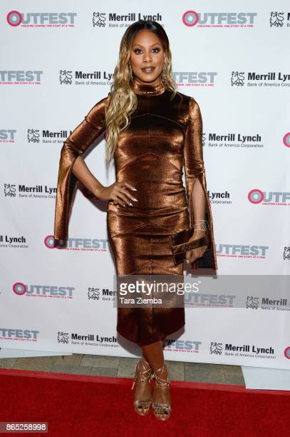 Actress Laverne Cox attends the 13th Annual Outfest Legacy Awards at Vibiana on October 22 2017 in Los Angeles California