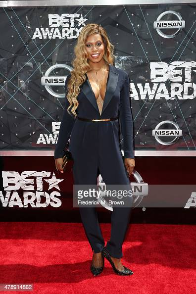 Actress Laverne Cox attends the 2015 BET Awards at the Microsoft Theater on June 28 2015 in Los Angeles California