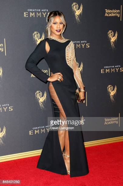 Actress Laverne Cox attends the 2017 Creative Arts Emmy Awards at Microsoft Theater on September 10 2017 in Los Angeles California