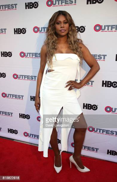 Actress Laverne Cox attends the 2017 Outfest Los Angeles LGBT Film Festival closing night gala screening of 'Freak Show' at The Theatre at Ace Hotel...