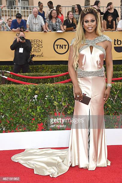 Actress Laverne Cox attends the 21st Annual Screen Actors Guild Awards at The Shrine Auditorium on January 25 2015 in Los Angeles California