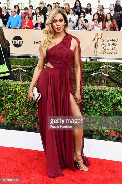 Actress Laverne Cox attends the 22nd Annual Screen Actors Guild Awards at The Shrine Auditorium on January 30 2016 in Los Angeles California