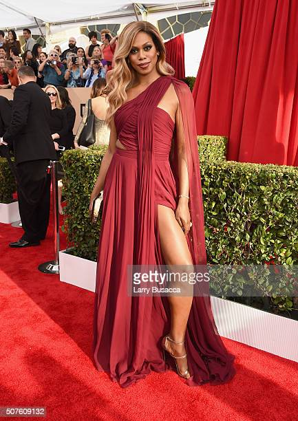 Actress Laverne Cox attends The 22nd Annual Screen Actors Guild Awards at The Shrine Auditorium on January 30 2016 in Los Angeles California 25650_014