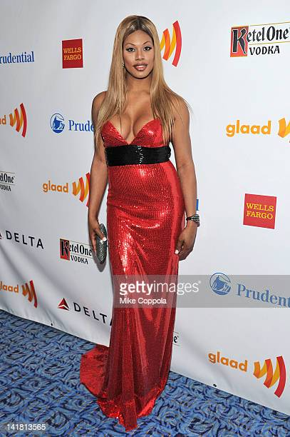Actress Laverne Cox attends the 23rd Annual GLAAD Media Awards presented by Ketel One and Wells Fargo at Marriott Marquis Theater on March 24 2012 in...
