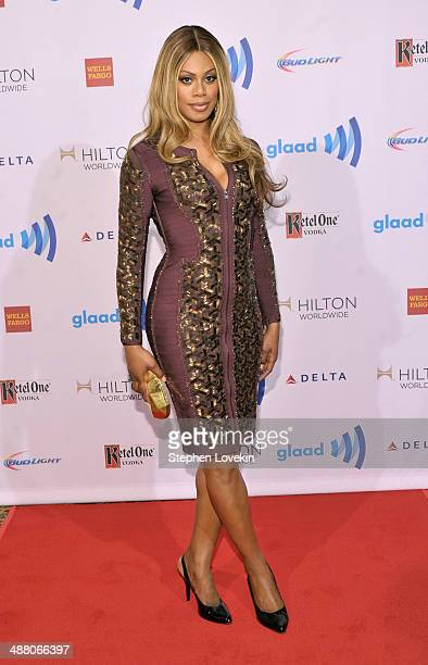 Actress Laverne Cox attends the 25th Annual GLAAD Media Awards on May 3 2014 in New York City
