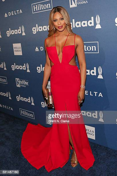 Actress Laverne Cox attends the 27th Annual GLAAD Media Awards held at The Waldorf=Astoria on May 14 2016 in New York City