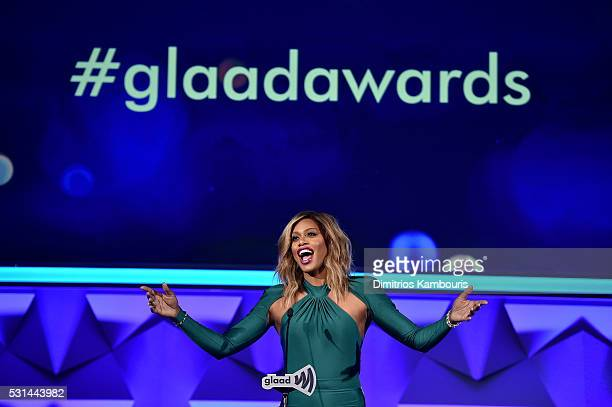 Actress Laverne Cox attends the 27th Annual GLAAD Media Awards in New York on May 14 2016 in New York City