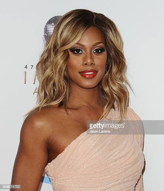 Actress Laverne Cox attends the 47th NAACP Image Awards at Pasadena Civic Auditorium on February 5 2016 in Pasadena California