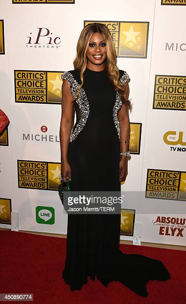 Actress Laverne Cox attends the 4th Annual Critics' Choice Television Awards at The Beverly Hilton Hotel on June 19 2014 in Beverly Hills California