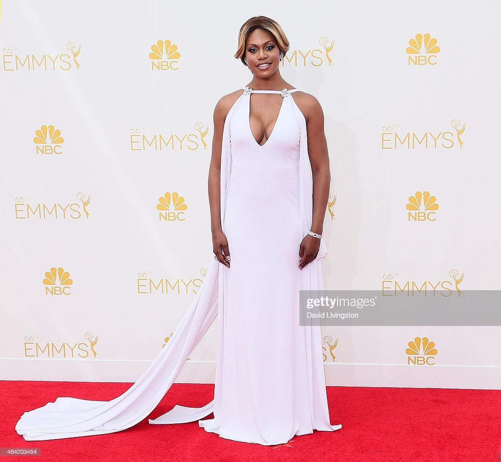 Actress <a gi-track='captionPersonalityLinkClicked' href=/galleries/search?phrase=Laverne+Cox&family=editorial&specificpeople=5848606 ng-click='$event.stopPropagation()'>Laverne Cox</a> attends the 66th Annual Primetime Emmy Awards at the Nokia Theatre L.A. Live on August 25, 2014 in Los Angeles, California.