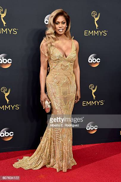 Actress Laverne Cox attends the 68th Annual Primetime Emmy Awards at Microsoft Theater on September 18 2016 in Los Angeles California
