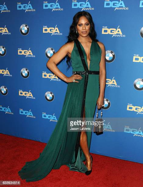 Actress Laverne Cox attends the 69th annual Directors Guild of America Awards at The Beverly Hilton Hotel on February 4 2017 in Beverly Hills...