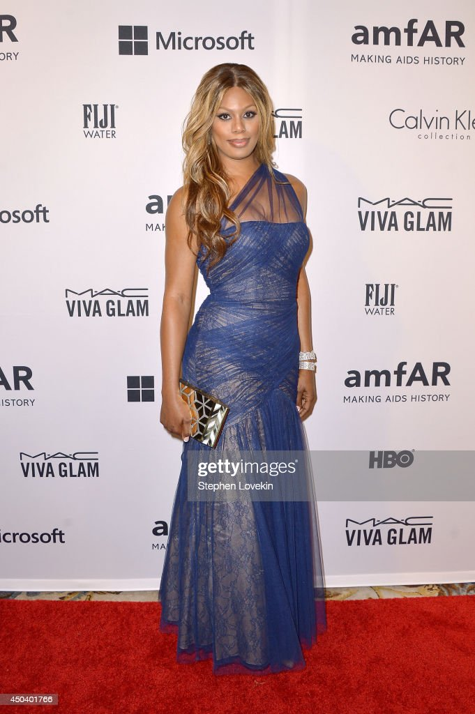 Actress Laverne Cox attends the amfAR Inspiration Gala New York 2014 at The Plaza Hotel on June 10, 2014 in New York City.