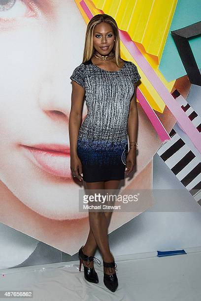 Actress Laverne Cox attends the Desigual fashion show during Spring 2016 New York Fashion Week at The Arc Skylight at Moynihan Station on September...