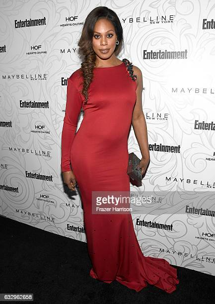 Actress Laverne Cox attends the Entertainment Weekly Celebration of SAG Award Nominees sponsored by Maybelline New York at Chateau Marmont on January...