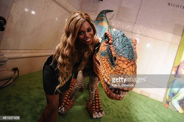 Actress Laverne Cox attends the launch of Dino Tales and Safari Tales at the American Museum of Natural History with Kuato Studios on July 16 2015 in...