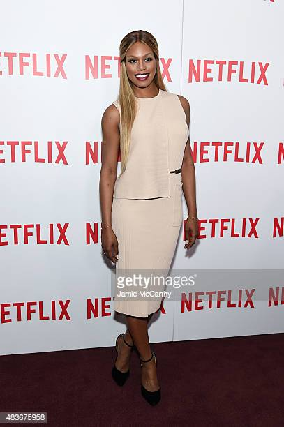 Actress Laverne Cox attends the 'Orange Is The New Black' FYC screening at DGA Theater on August 11 2015 in New York City