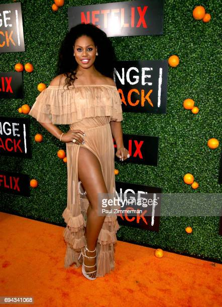 Actress Laverne Cox attends the 'Orange Is The New Black' Season 5 Celebration at Catch on June 9 2017 in New York City