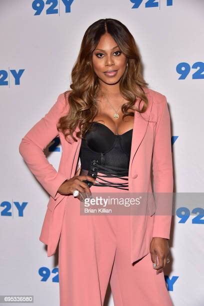 Actress Laverne Cox attends the 'Orange is the New Black' Season Five Debut Screening And Conversation at 92nd Street Y on June 12 2017 in New York...