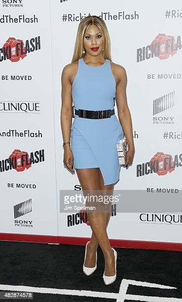 Actress Laverne Cox attends the 'Ricki And The Flash' New York premiere at AMC Lincoln Square Theater on August 3 2015 in New York City
