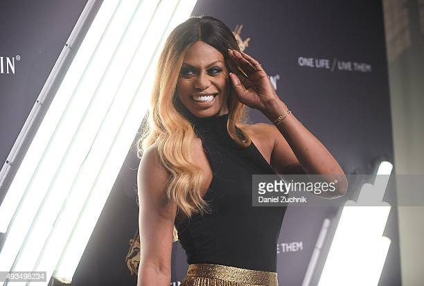Actress Laverne Cox attends the The House Of Remy Martin 'One Life/Live Them' Launch Event With Jeremy Renner at ArtBeam on October 20 2015 in New...