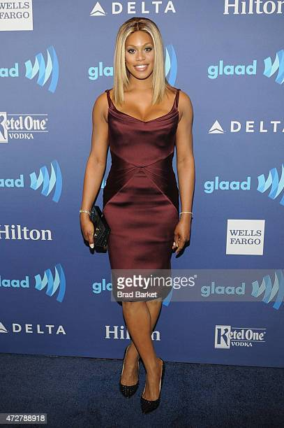 Actress Laverne Cox attends the VIP Red Carpet Suite hosted by Ketel One Vodka at the 26th Annual GLAAD Media Awards in New York on May 9 2015 in New...