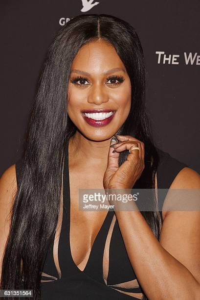 Actress Laverne Cox attends The Weinstein Company and Netflix Golden Globe Party presented with FIJI Water Grey Goose Vodka Lindt Chocolate and...