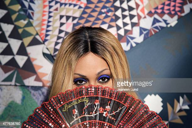 Actress Laverne Cox is photographed for Buzzfeed on January 21 2014 in Los Angeles California