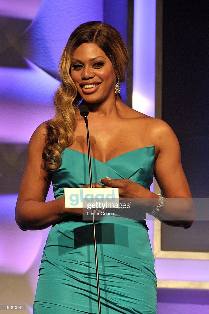 Actress Laverne Cox onstage during the 25th Annual GLAAD Media Awards at The Beverly Hilton Hotel on April 12, 2014 in Beverly Hills, California.