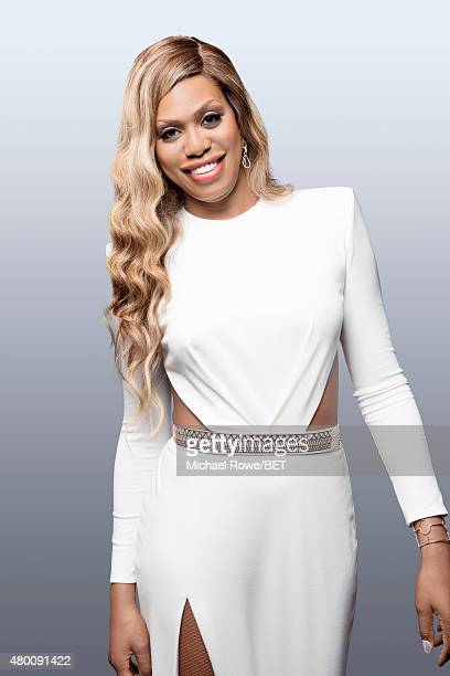 Actress Laverne Cox poses for a portrait at the 2015 BET Awards on June 28 2015 at the Microsoft Theater in Los Angeles California