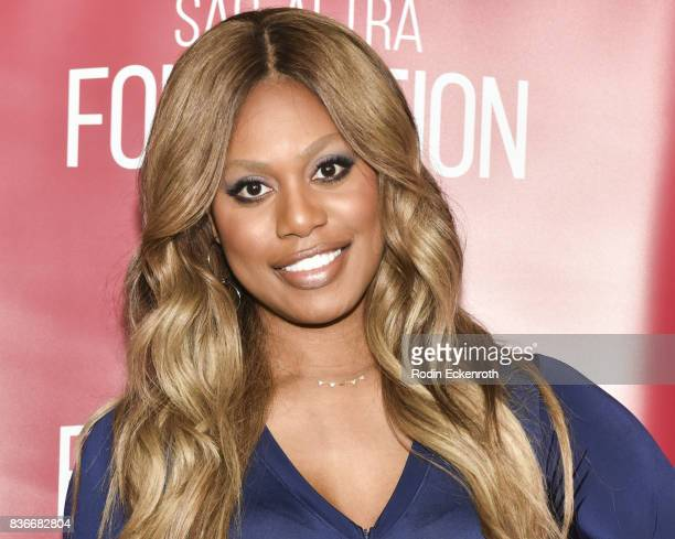 Actress Laverne Cox poses for portrait at SAGAFTRA Foundation Conversations with 'Orange Is The New Black' at SAGAFTRA Foundation Screening Room on...