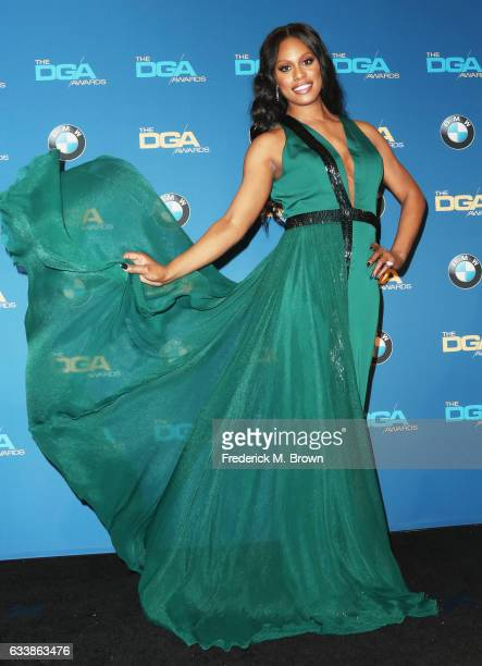 Actress Laverne Cox poses in the press room during the 69th Annual Directors Guild of America Awards at The Beverly Hilton Hotel on February 4 2017...