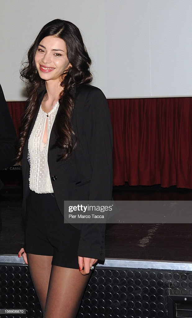 Actress Lavinia Longhi attends 'I Giorni della Vendemmia' photocall at Cinema Mexico on November 24, 2012 in Milan, Italy.