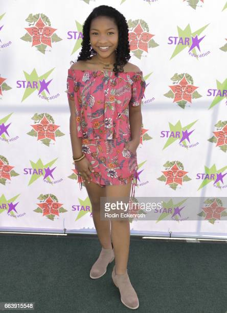 Actress Laya Deleon Hayes attends 17th Annual Children's Earth Day Extravaganza at Star Eco Station on April 2 2017 in Culver City California