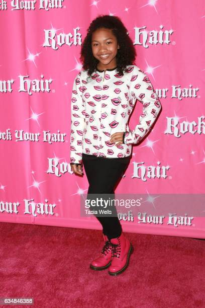 Actress Laya DeLeon Hayes attends Rock Your Hair presents 'Valentine's Rocks' at The Avalon Hotel on February 11 2017 in Los Angeles California
