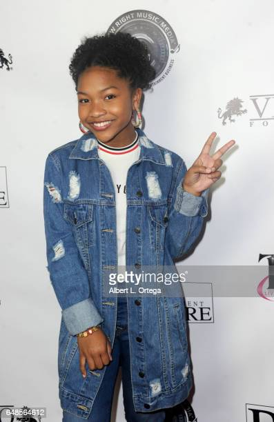 Actress Laya Deleon Hayes attends Talin Silva's EP Release Party And Concert held at Busby's East on March 3 2017 in Los Angeles California