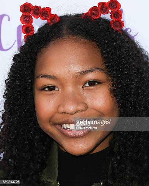 Actress Laya DeLeon Hayes attends the 'Chandler's Friends' toy wrapping party on behalf of Hasbro's The Joy Maker Challenge at Los Angeles Ballet...