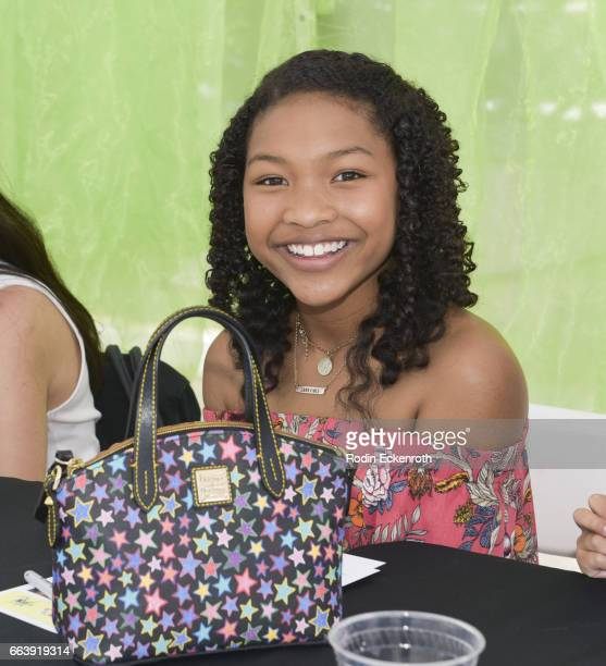 Actress Laya Deleon Hayes signs autographs for fans at 17th Annual Children's Earth Day Extravaganza at Star Eco Station on April 2 2017 in Culver...