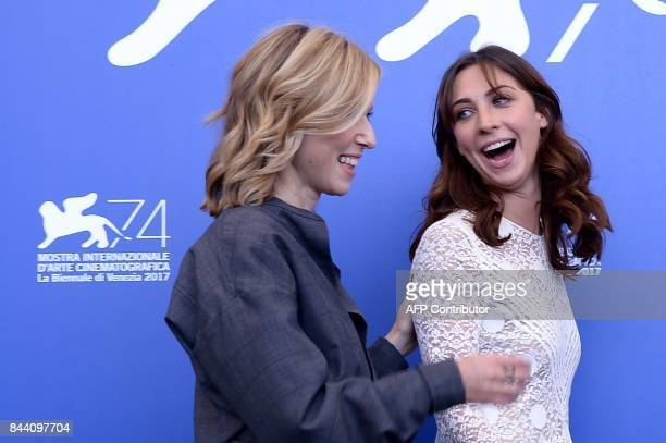 Actress Lea Drucker and actress Mathilde Auneveux attend the photocall of the movie 'Jusqu'à la Garde' presented in competition at the 74th Venice...