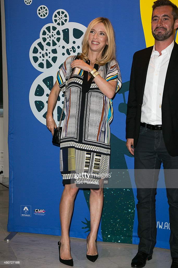 Actress Lea Drucker and Xavier Legrand attend the 'Panorama des Nuits en or' gala dinner UNESCO on June 16 2014 in Paris France