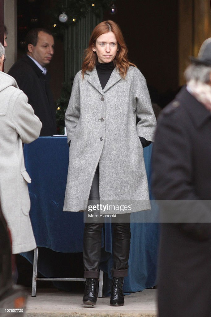 Actress Lea Drucker attends the funeral of actor BernardPierre Donnadieu at SaintJean Baptiste church on January 3 2011 in Sceaux France The French...
