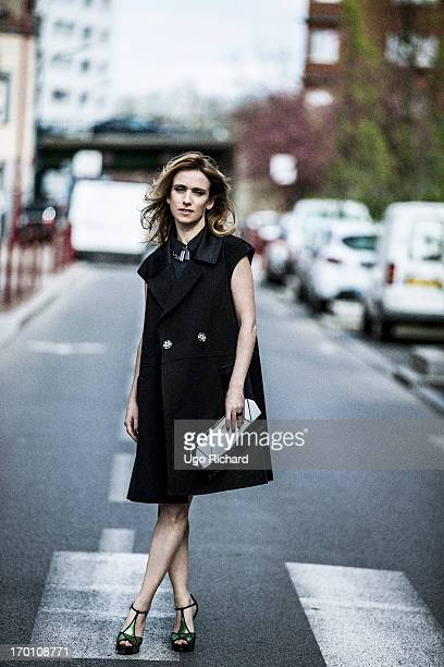 Actress Lea Drucker is photographed for Self Assignment on April 1 2013 in Paris France