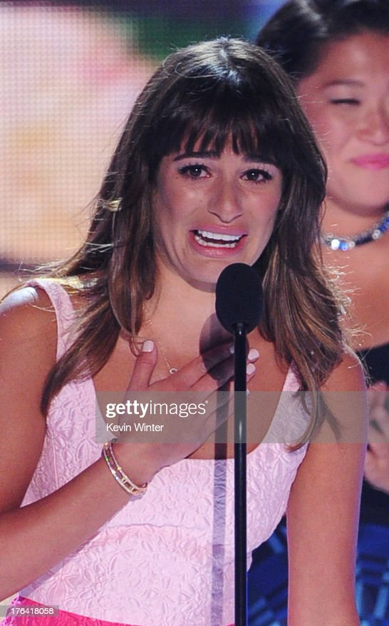 Actress Lea Michele accepts Choice TV Show: Comedy award for 'Glee' onstage during the Teen Choice Awards 2013 at the Gibson Amphitheatre on August 11, 2013 in Universal City, California.