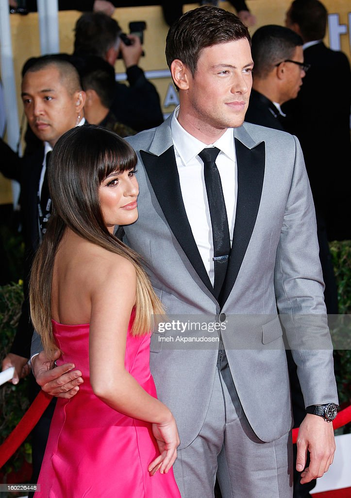 Actress Lea Michele (L) and actor Cory Monteith attend the 19th Annual Screen Actors Guild Awards at The Shrine Auditorium on January 27, 2013 in Los Angeles, California.