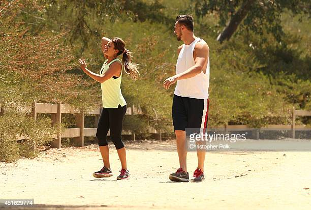 Actress Lea Michele and Matthew Paetz are seen hiking on June 27 2014 in Burbank California