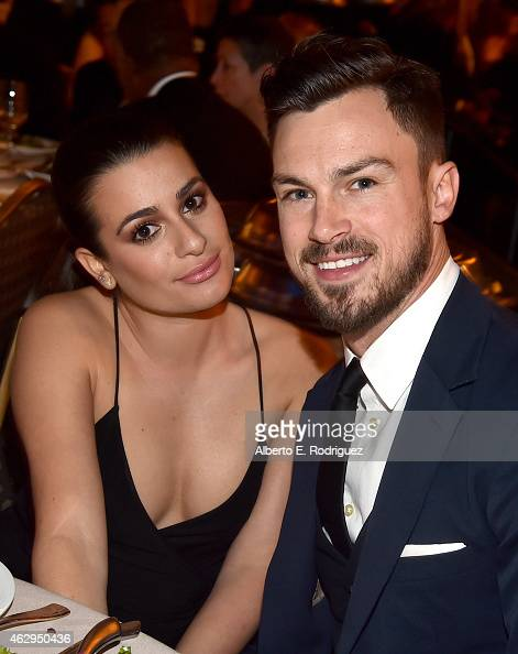 Actress Lea Michele and Matthew Paetz attend the 67th Annual Directors Guild Of America Awards at the Hyatt Regency Century Plaza on February 7 2015...