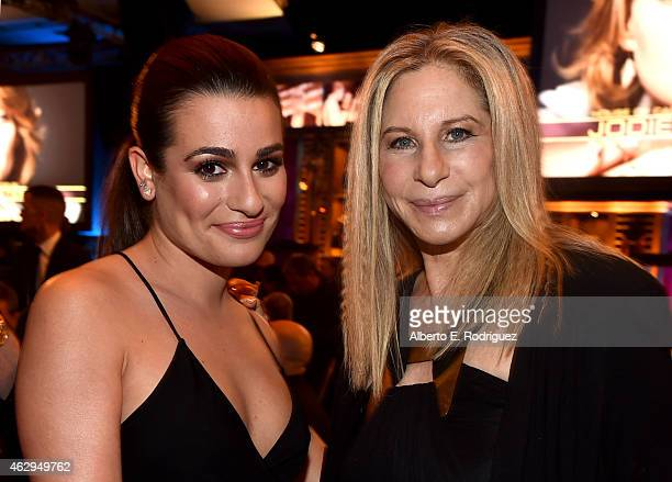 Actress Lea Michele and singer/actress Barbra Streisand attend the 67th Annual Directors Guild Of America Awards at the Hyatt Regency Century Plaza...